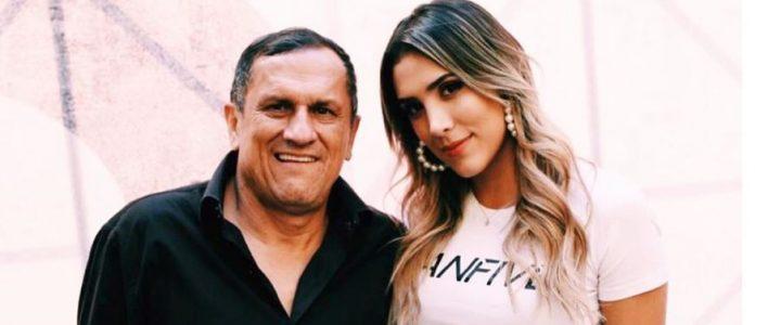 Daniela Ospina publicó conmovedora foto del beso que le dio a su papá antes de morir