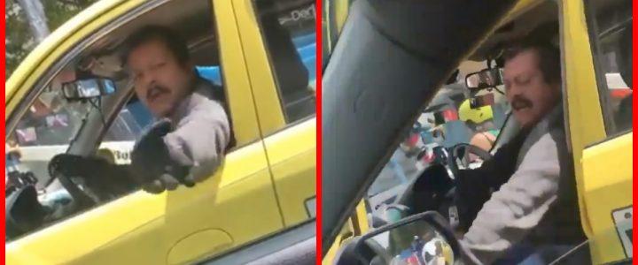 [Video] Taxista fue grabado mientras insultaba fuertemente a otra conductora