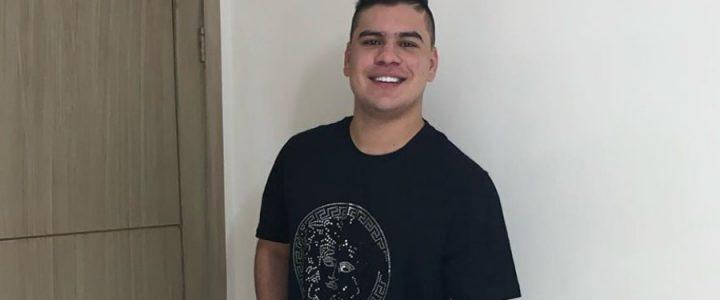 Cámara de seguridad captó el momento del accidente de Moisés Díaz
