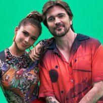 Con las 'bubis' sobre Juanes, Greeicy Redón recordó una foto junto al cantante paisa