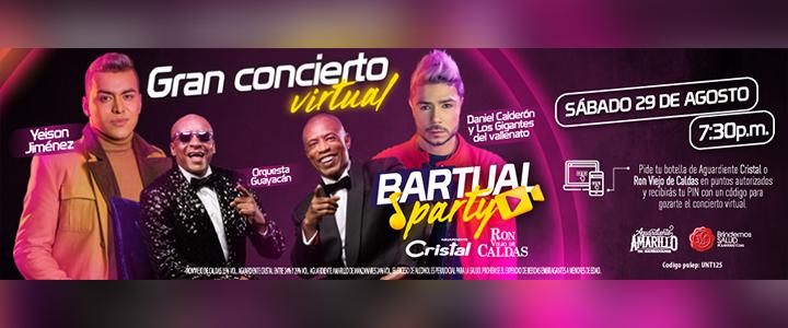 Gánate un PIN de Ingreso al concierto Virtual con Tropicana y Ron Viejo de Caldas.