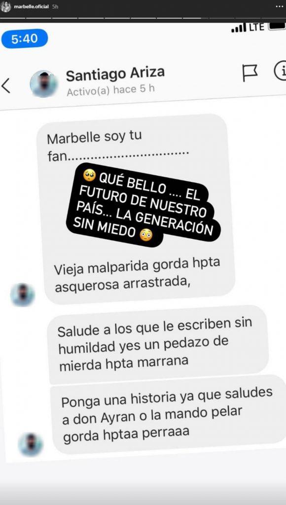 """""""La mando a pelar, gorda""""; Marbelle denuncia amenaza en sus redes sociales"""