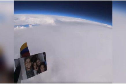Joven grabó La Tierra con una cámara que pegó a un globo_ Foto_ captura video