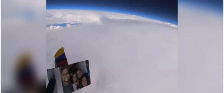 ¡Impresionante! Joven pegó una cámara a un globo de helio y grabó el planeta Tierra