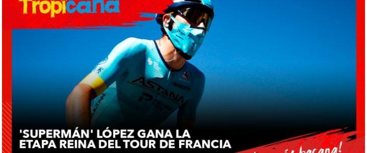 Video del emocionante momento en que 'Supermán' López gana etapa 17 del Tour de Francia