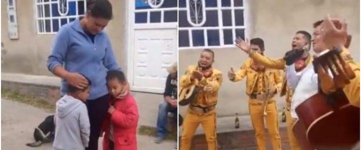 Video: Niño pagó con 1.000 pesos y canicas una serenata para su mamá