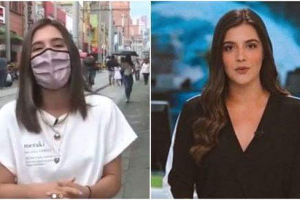Periodista de Medellín hace el oso al aire _ Foto_ Instagram