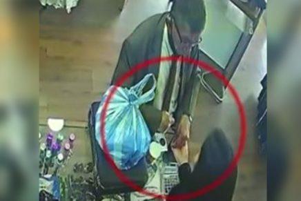 Hombre roba a una empleada en Usaquén Foto captura video Citynoticias