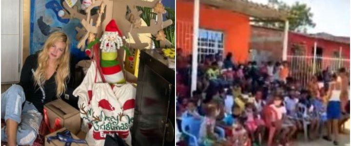 Johana Bahamón y famoso supermercado donaron 2.000 pizzas a familias de escasos recursos