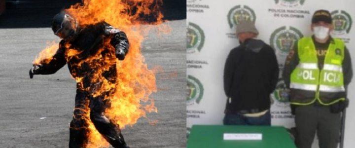 Habitante de calle le prendió fuego a un hombre por no darle limosna