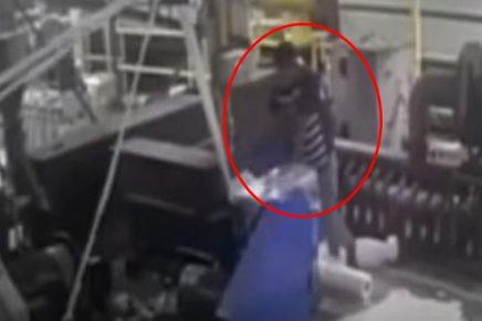 Joven pierde el brazo por una máquina Foto captura YouTube Séptimo Día