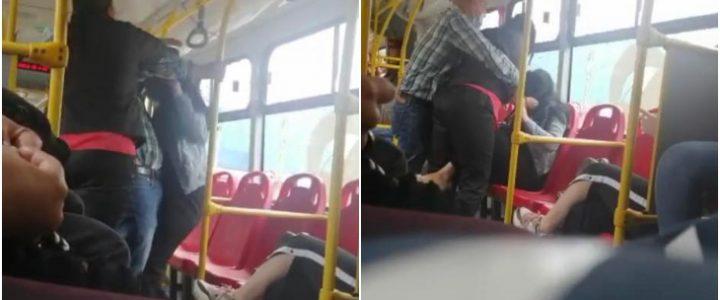 Video: Dos mujeres se fueron a los golpes dentro de un bus de TransMilenio