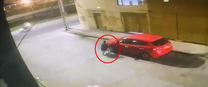 ¿Salvado por la alarma? Carro empezó a 'gritar' cuando misterioso hombre se acercó