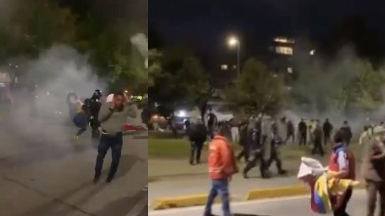 Disturbios entre Esmad y dueños de bares se toman el norte de Bogotá