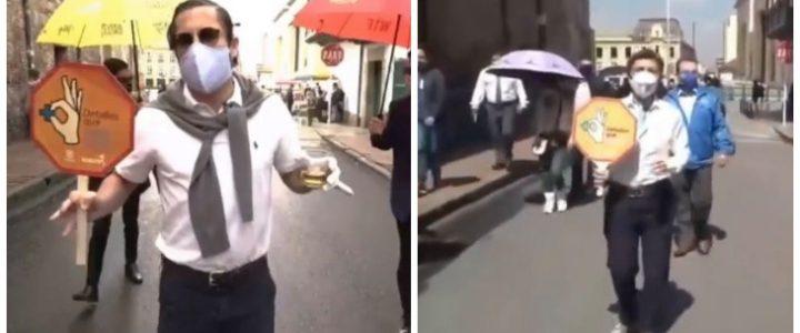 Video: Juanpis González hizo parodia del encontronazo de la alcaldesa con vendedora ambulante