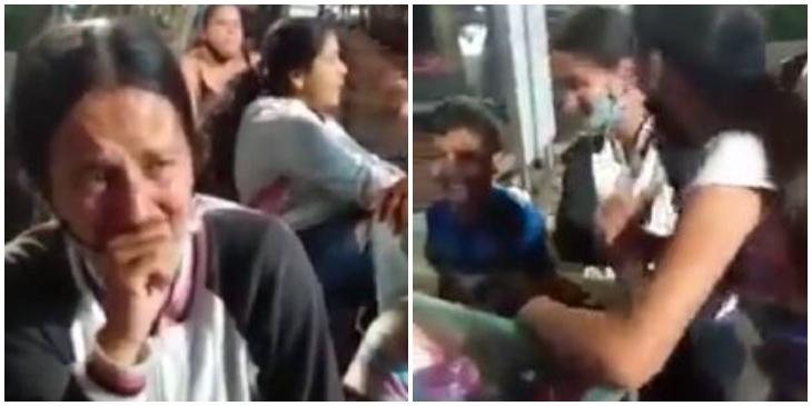 Niños golpean a la mamá _ Foto_ captura video