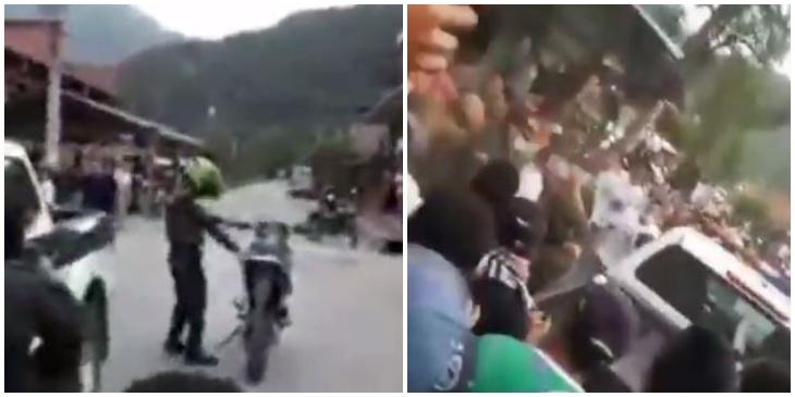 Policía se habría robado una moto _ Foto_ captura video