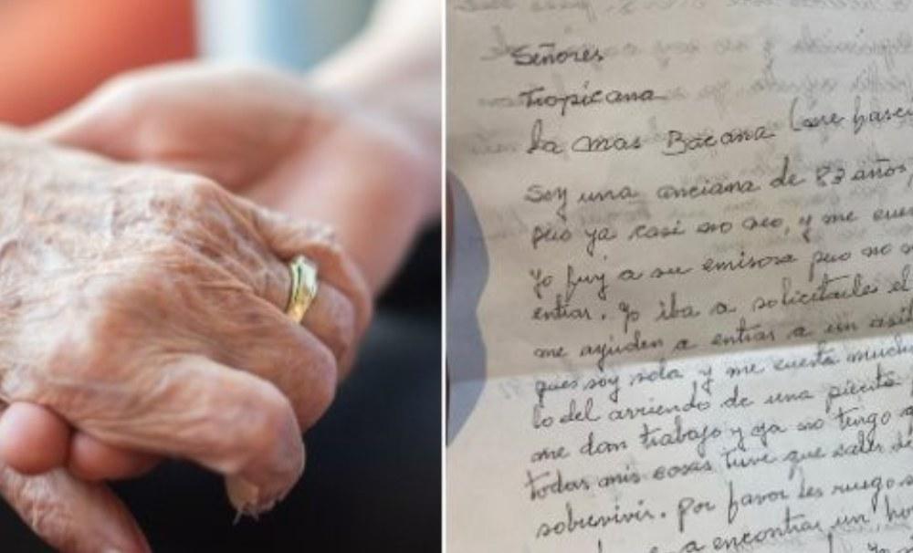 Conmovedora carta de anciana de 83 años que pide le ayuden a encontrar un asilo geriátrico