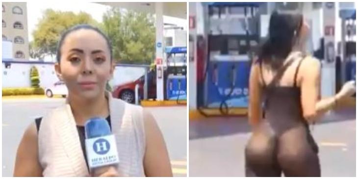 Camarógrafo deja de grabar a periodista _ Foto_ captura video