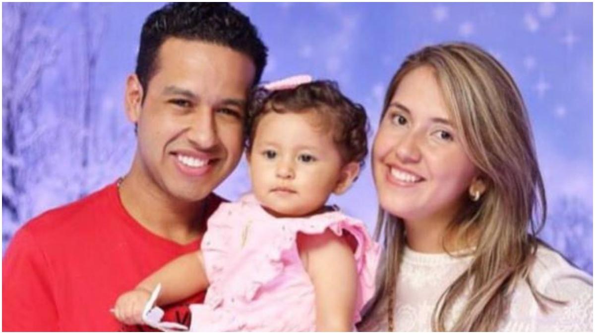 Dayana Jaimes, Martín Elías y su hija _ Foto_ instagram