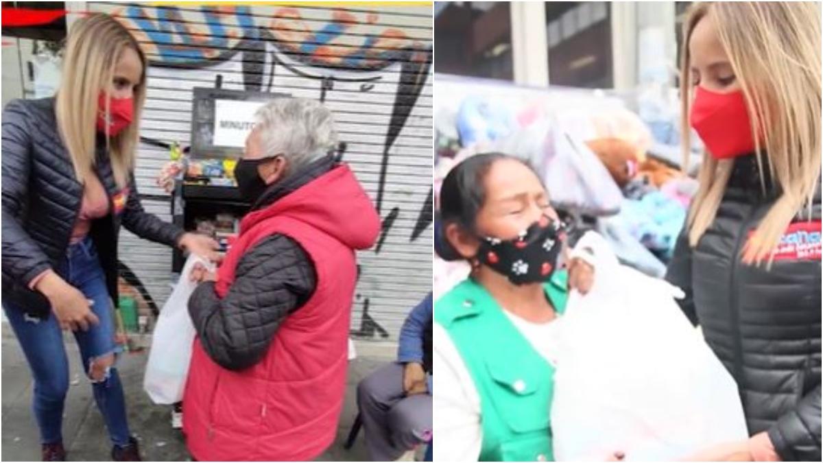 Donación de mercados para vendedores ambulantes en Bogotá _ Foto_ Tropciana