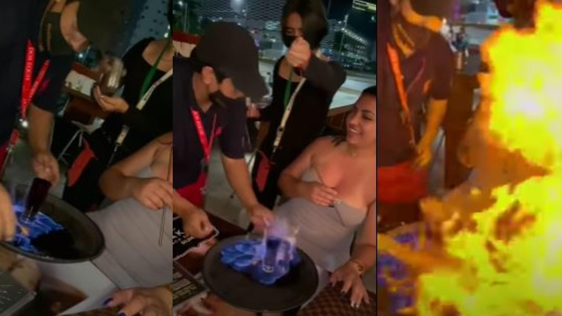 Joven resultó seriamente afectada tras incendiarse con un coctel en llamas
