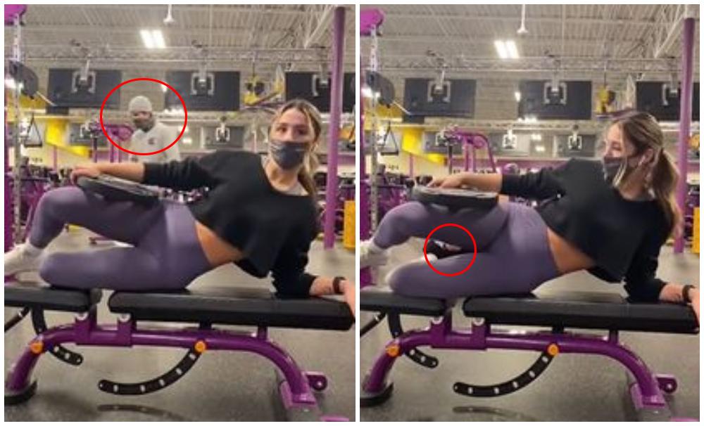 Mujer graba a acosador en el gimnasio Foto Captura video
