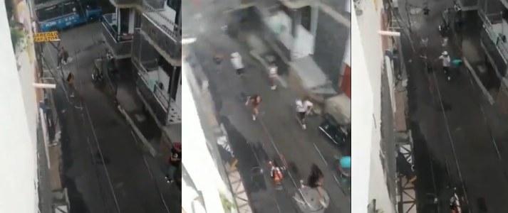 Pelea durante el toque de queda en Medellín