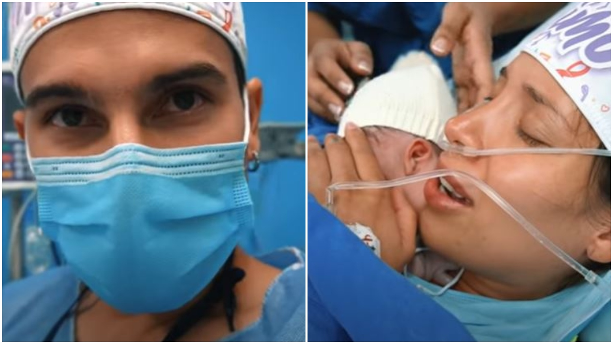 Video del nacimiento de Máximo, hijo de Luisa Fernanda W y Pipe Bueno _ Foto_ captura YouTube
