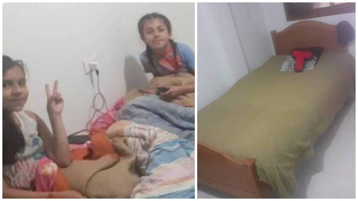 Familia recibe donación de camas _ Foto_ tropicana