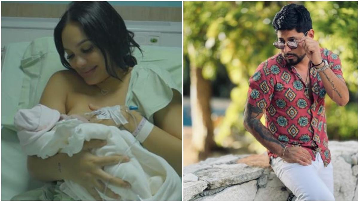 Andrea Valdiri mostró la carita de su bebé _ Foto_ Instagram