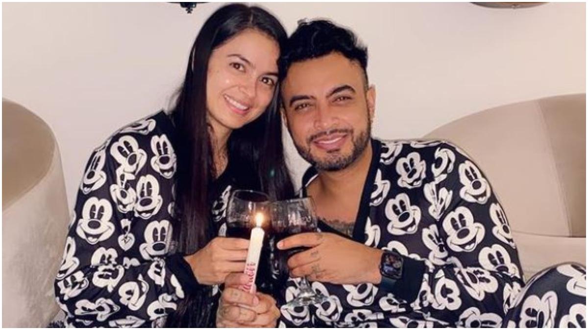 Jhon Alex Castaño y su novia _ Foto_ Instagram