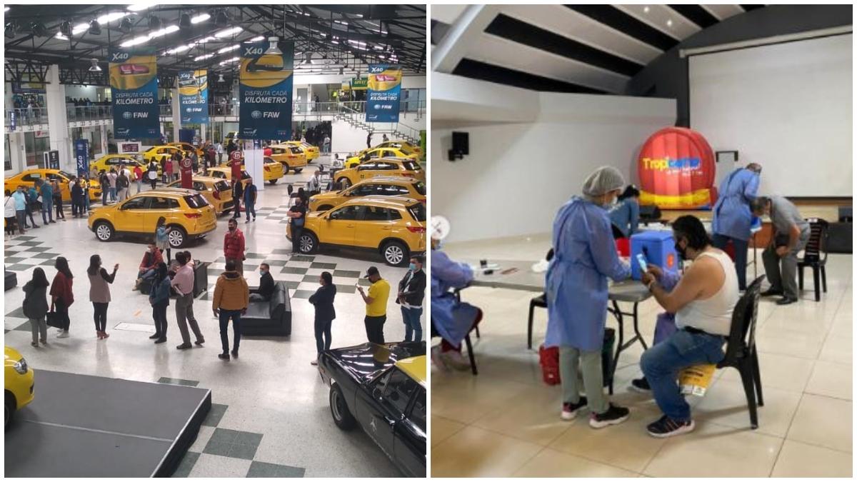 Jornada de vacunación a Taxistas _ Foto_ Tropicana