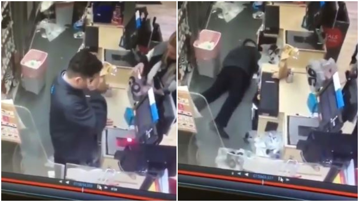 Joven fingió desmayarse para que le dieran el dia libre _ Foto_ captura video