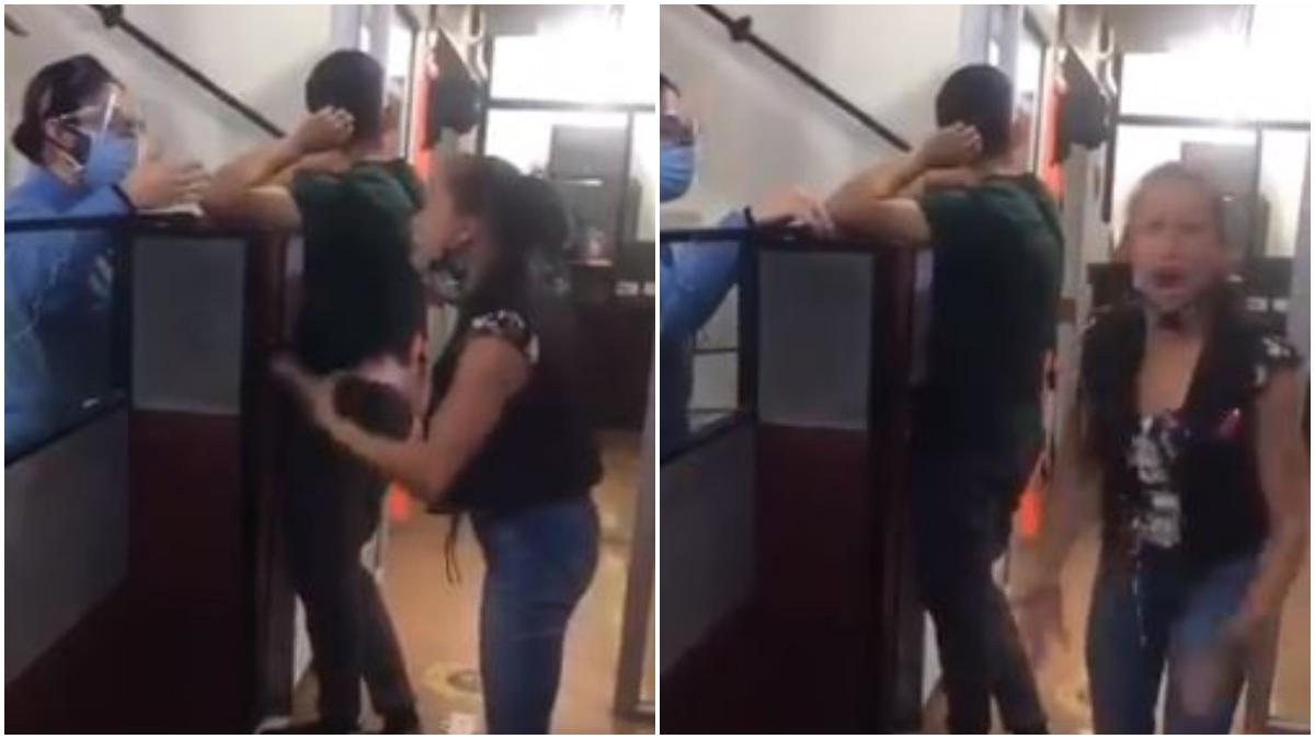 Mujer reclama porque no la atienden en la notaría _ Foto_ captura video