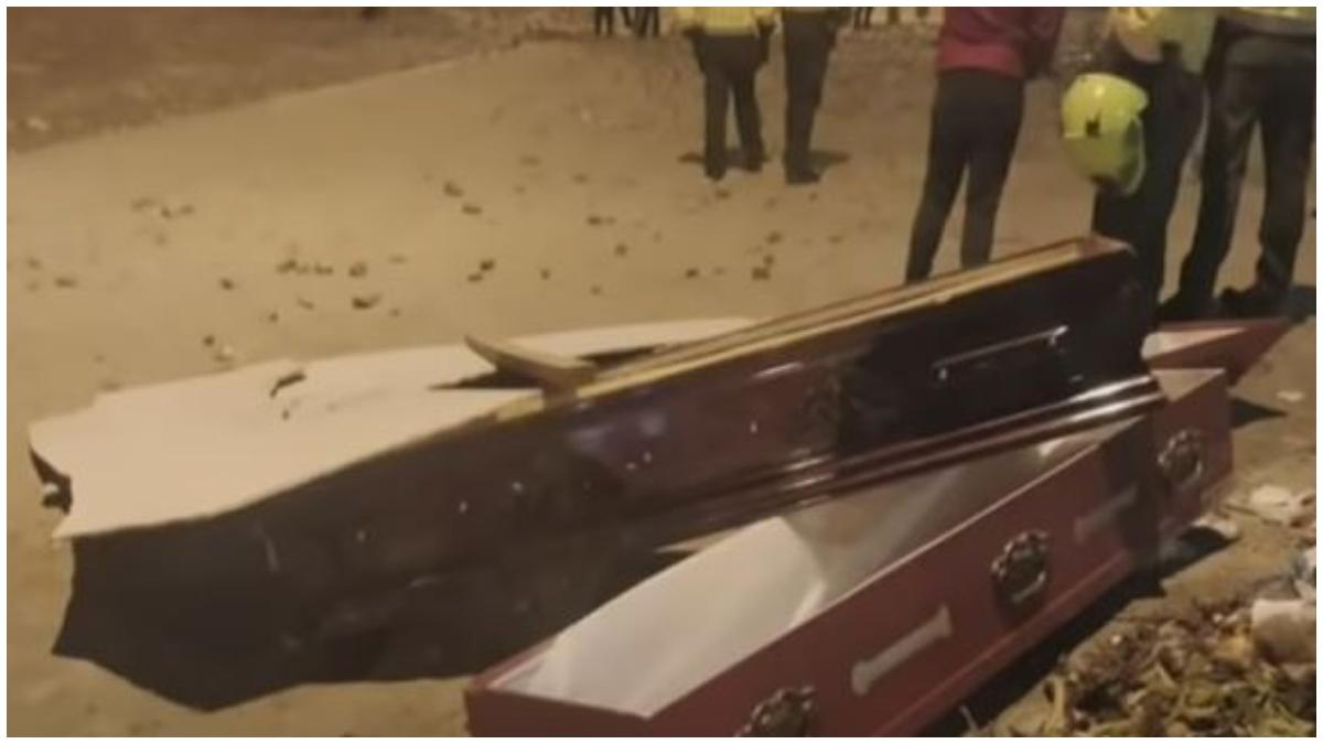 Vándalos saquearon funeraria en Usme _ Foto_ captura video