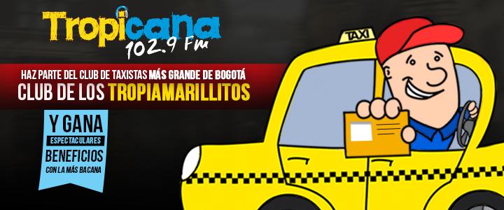 Inscríbete en el club de taxistas más grande de Bogotá, Los Tropiamarillitos de Tropicana